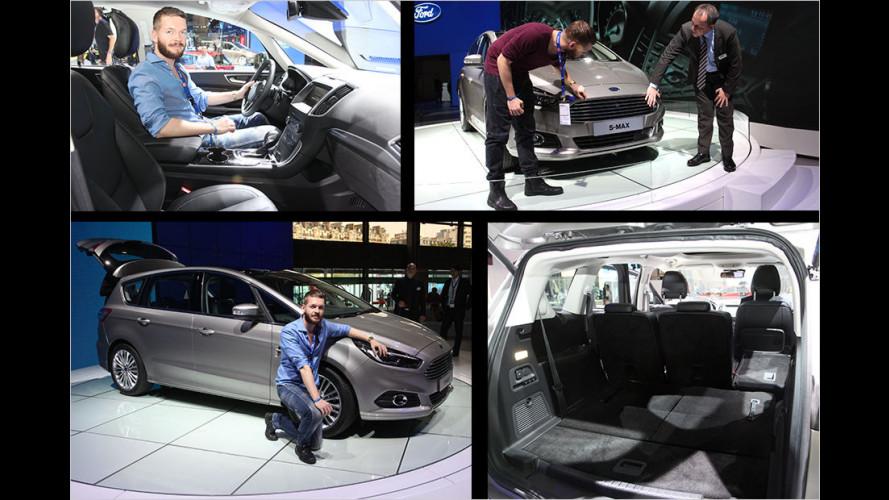 Erste Sitzprobe im neuen Ford S-Max