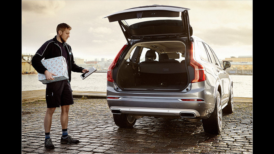 Volvo bietet In-car-Lieferdienst: Paket in den Kofferraum