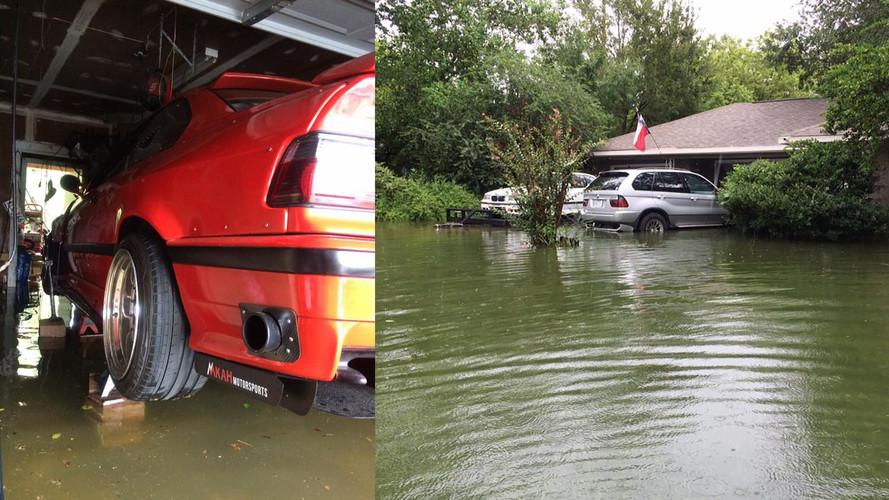 Térkövekkel és emelőkkel mentette az árvíztől BMW-jét egy texasi férfi