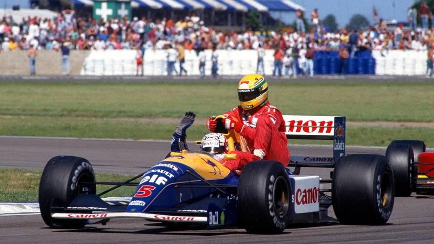 Silverstone 1991: Nigel Mansell (Williams) y Ayrton Senna (McLaren)