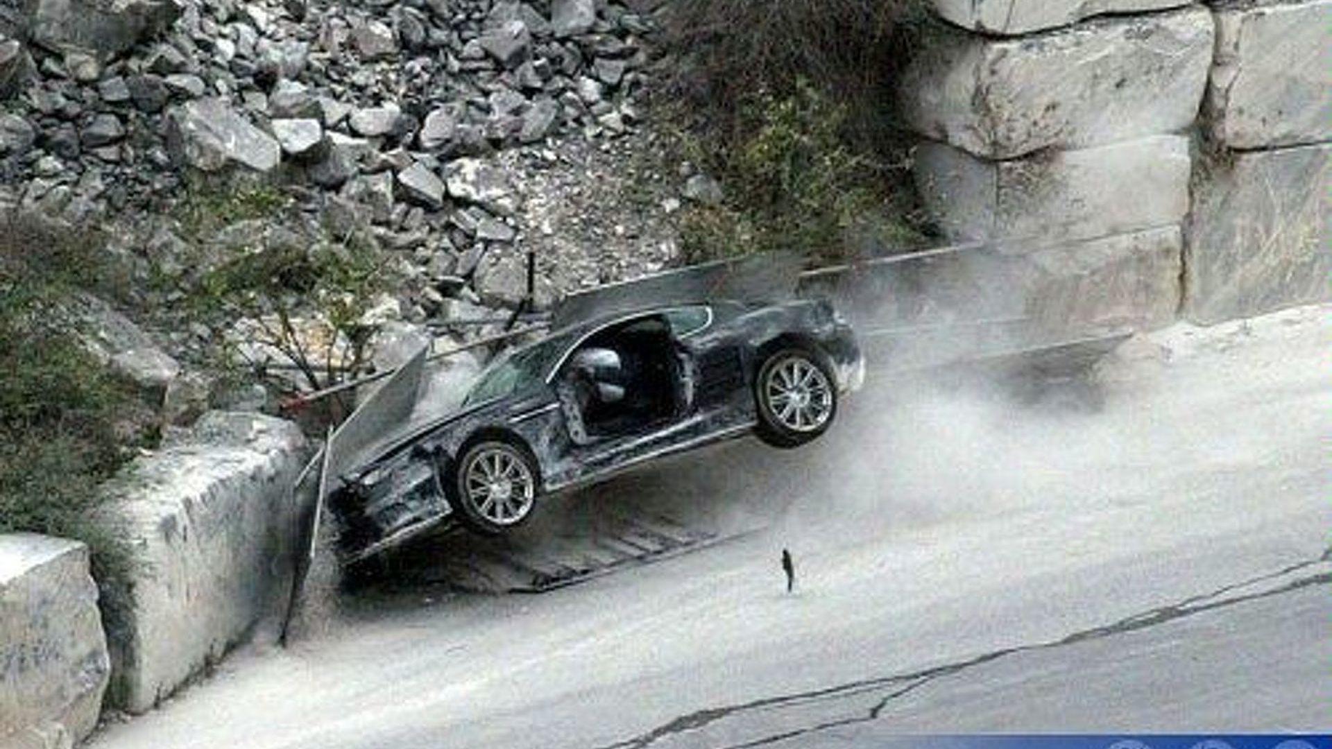 Crashed Aston Martin Dbs Confirms James Bond Needs Driving
