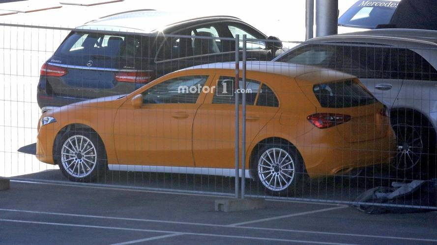 2018 Mercedes A-Class without camouflage spy photo