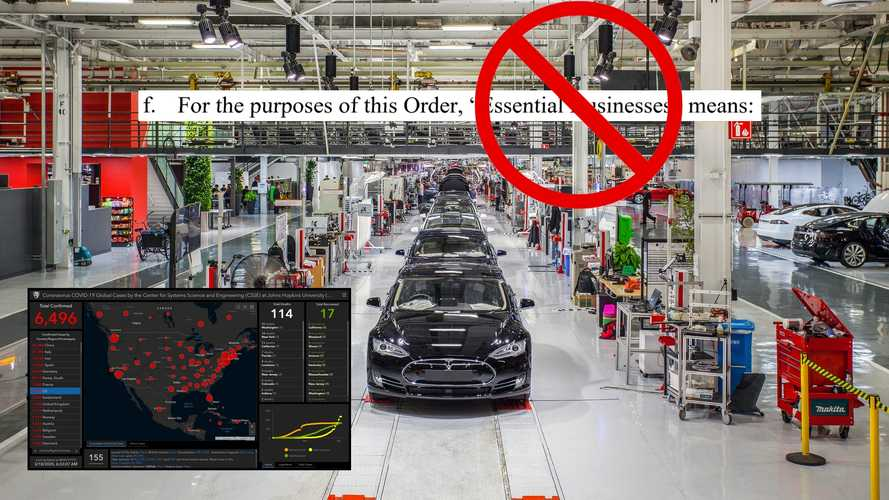 Alameda County Sheriff Says Tesla Can't Keep Making Cars In Lockdown