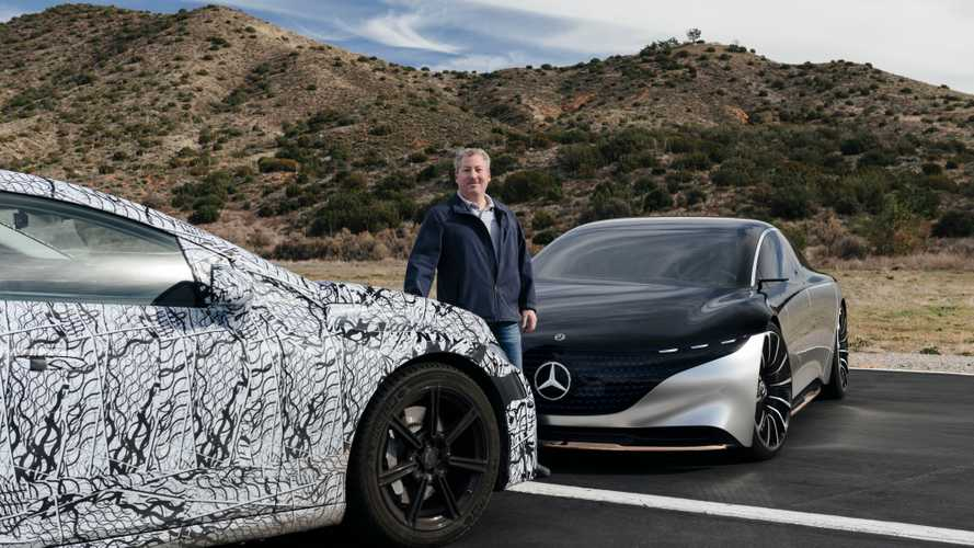 We Go For a Spin In The Concept Mercedes Vision EQS