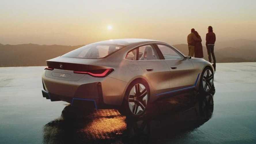 Mozgásban az elektromos-hajtású BMW Concept i4 - videó