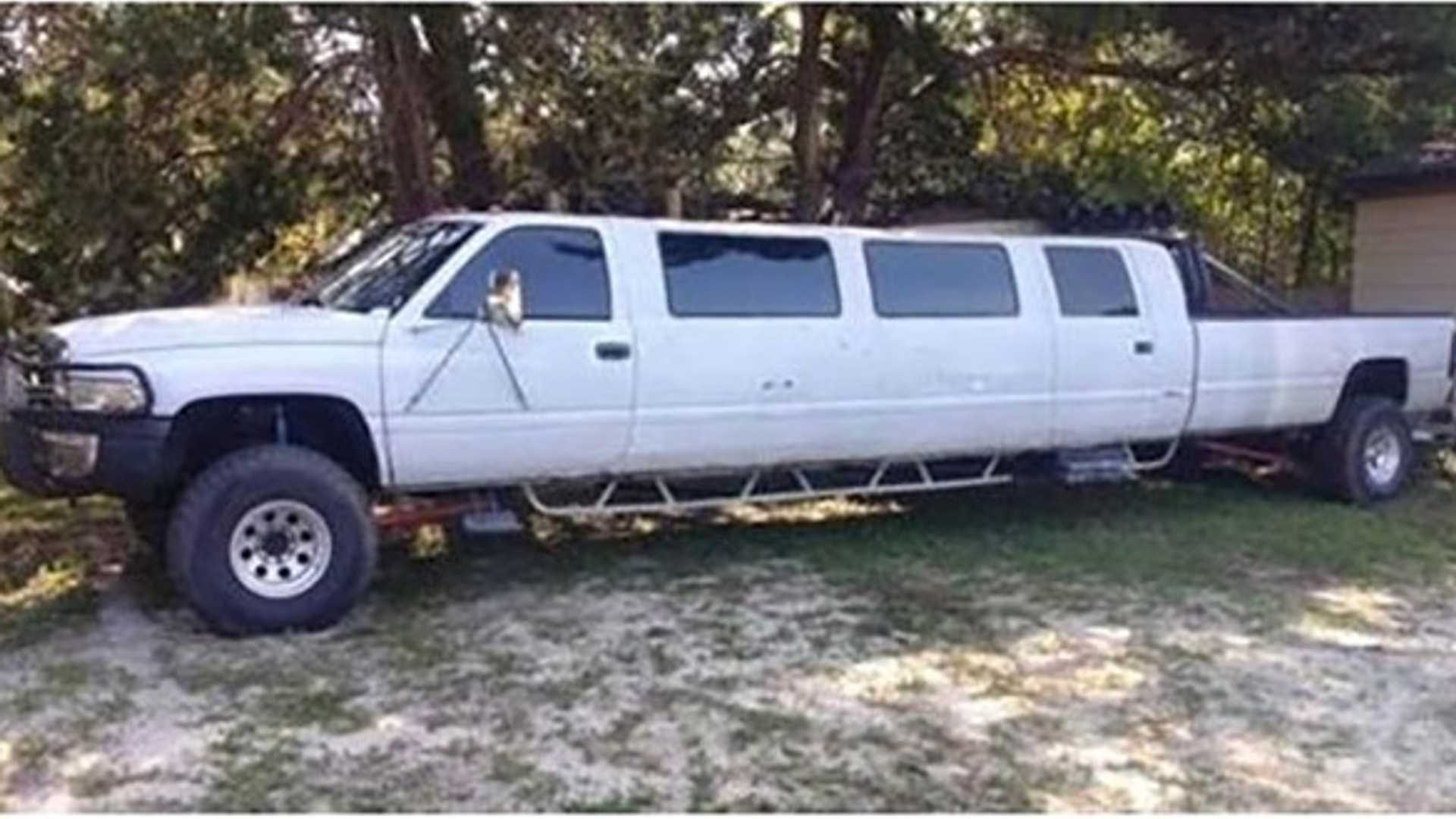 """[""""This 37-Foot Stretched Dodge Ram Pickup Can Be Your Redneck Chariot""""]"""