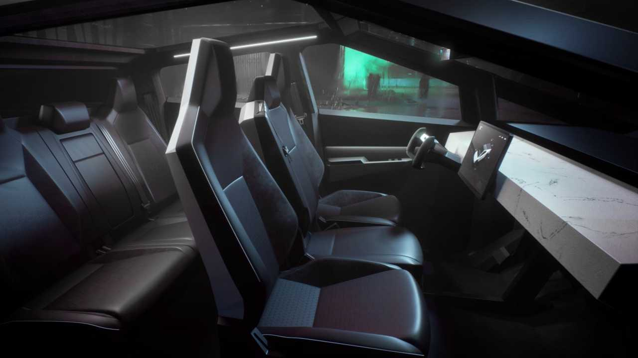 Tesla Cybertruck - interior