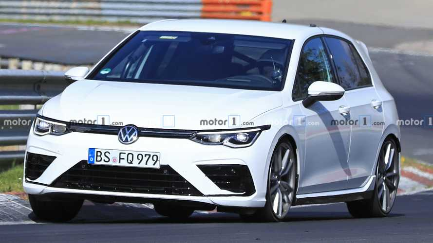 New VW Golf R spied at the Nürburgring with minimal camouflage