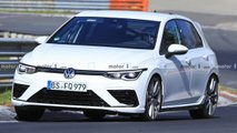 2021 VW Golf R new spy photos from the Nürburgring