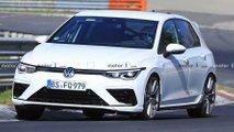 Nuova Volkswagen Golf R, foto spia in versione definitiva al Nürburgring