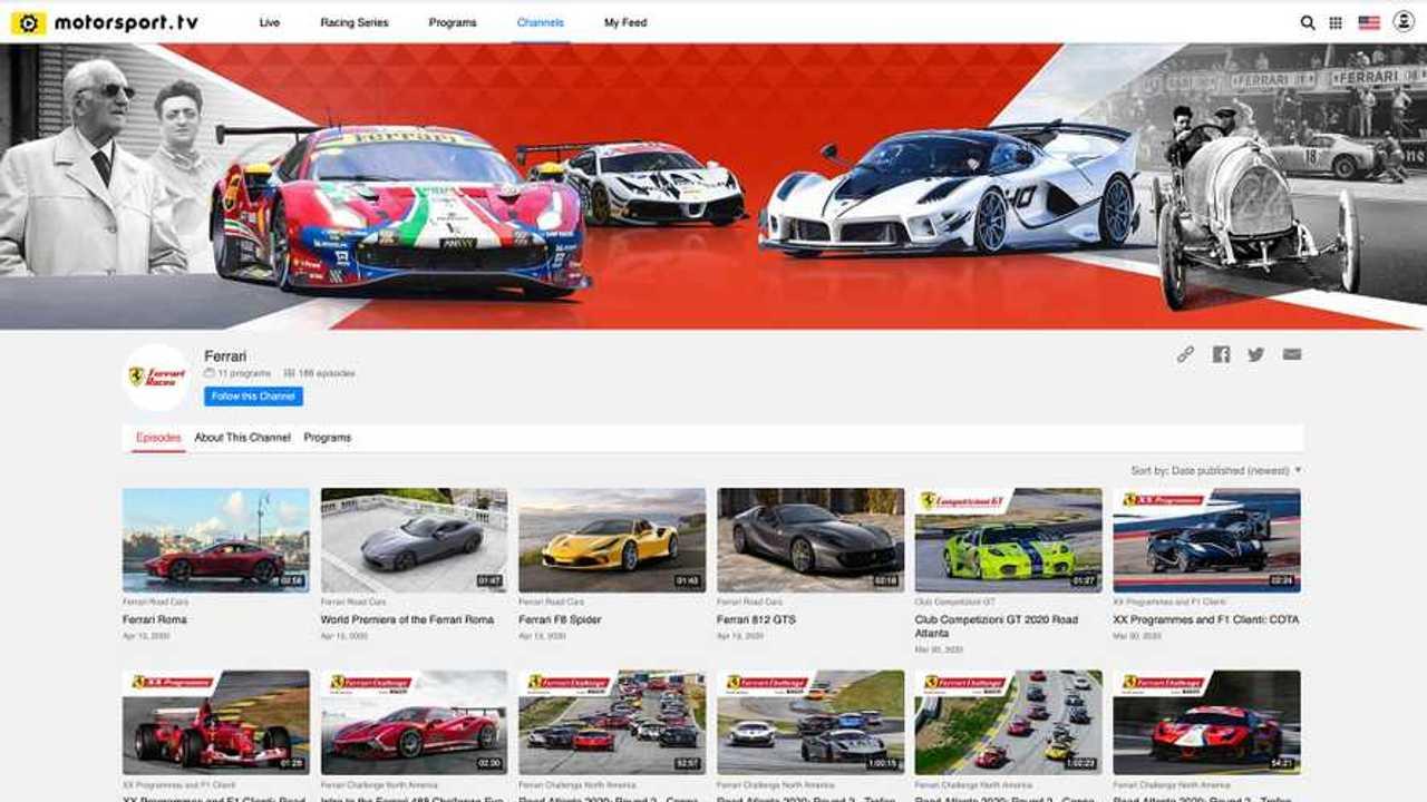 Ferrari sbarca su Motorsport.tv, ecco il canale dedicato al Cavallino