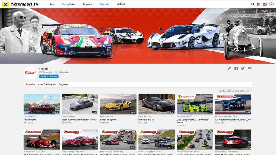 Ferrari arriva su Motorsport.tv, ecco il canale dedicato al Cavallino