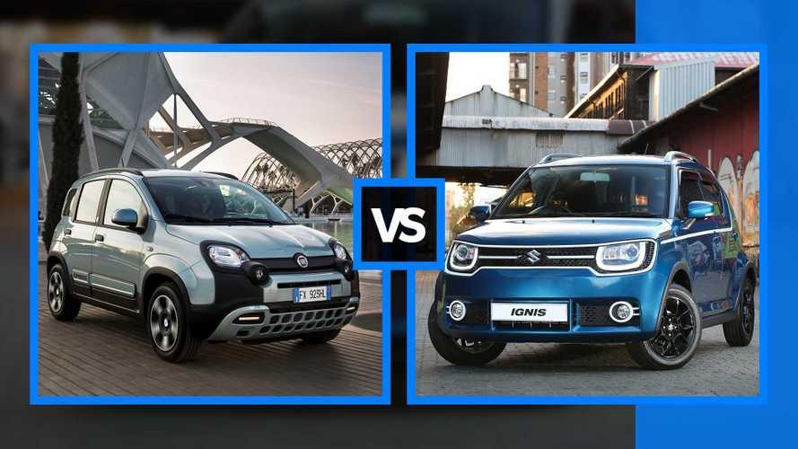 Fiat Panda Hybrid vs Suzuki Ignis Hybrid, le piccole mild hybrid