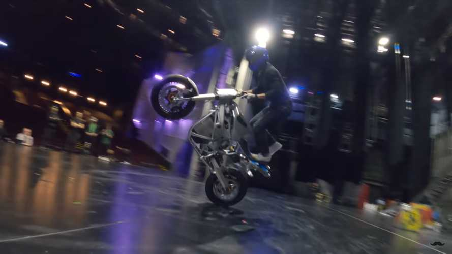 Watch Electric Stunt Riders Dance With Drones