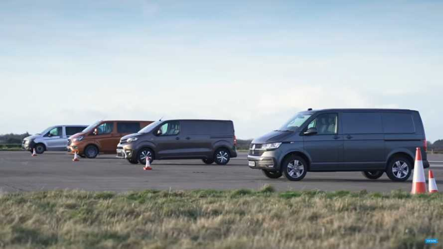 Four Vans Fight In One Of The Slowest Drag Races Ever