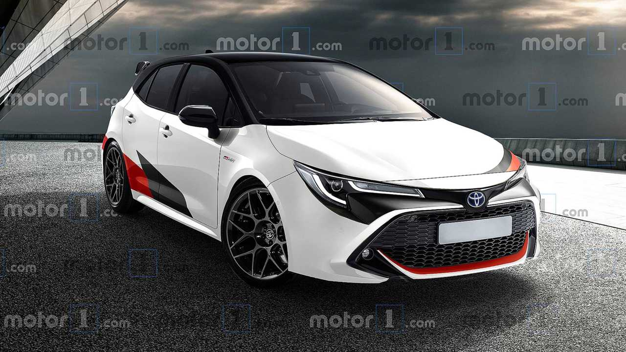 Rendering of the toyota gr corolla