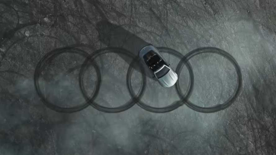Mercedes joins Audi's Four Rings Challenge by doing donuts with C63