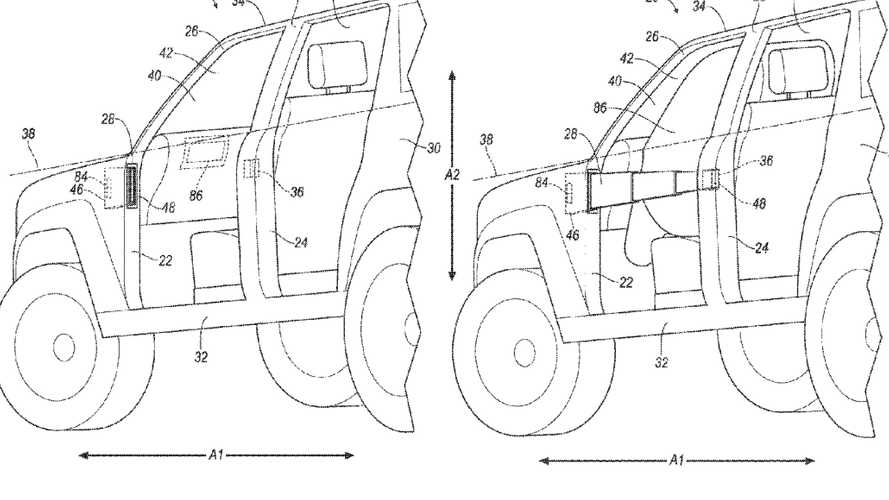 Ford Bronco Might Extend Door Barriers In A Crash, Patent Suggests