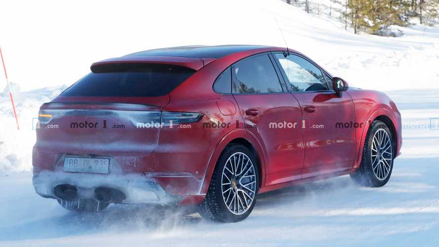 Porsche Cayenne Coupe GT spied failing to hide its revised exhaust