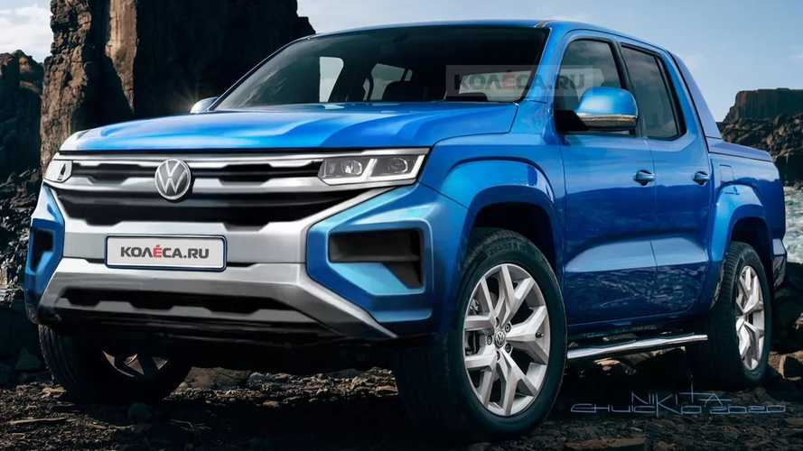 Next-Gen VW Amarok Rendered Based On Teaser Sketch