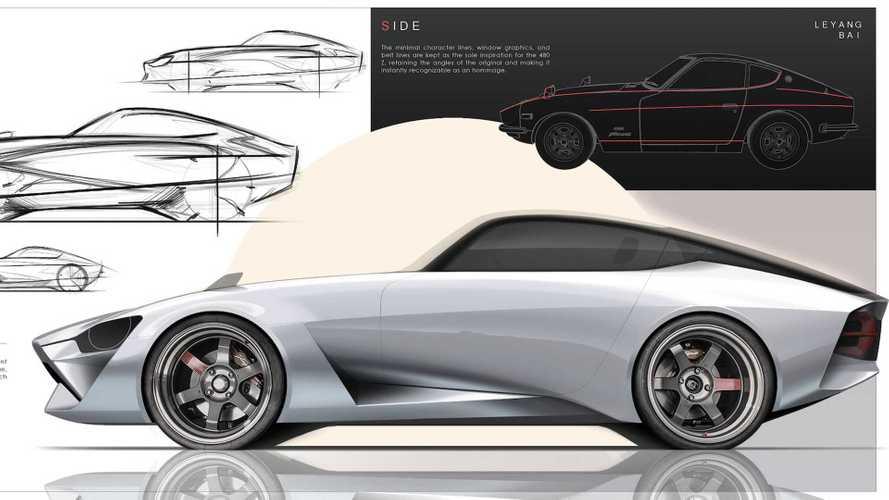 Nissan 480Z rendering by Leyang Bai