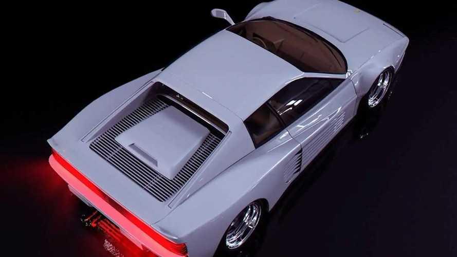 Miami Vice Ferrari Testarossa imaginado por Abimelec Design