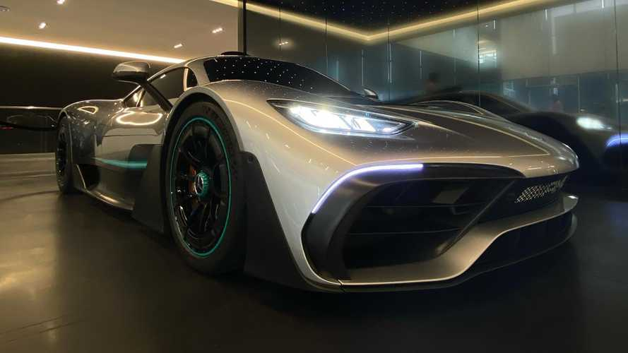 AMG One and Mark Wahlberg visit Mercedes' US HQ