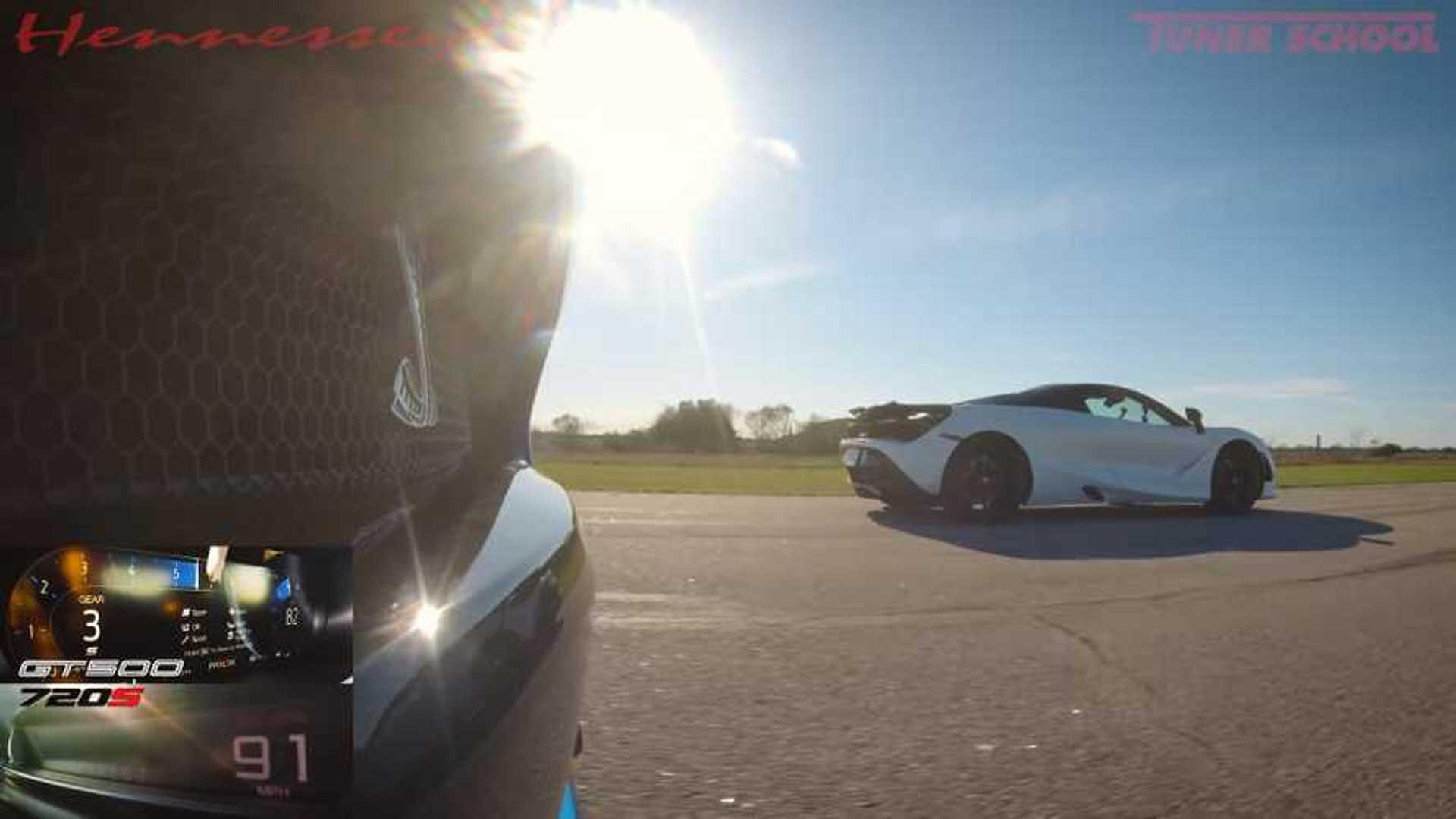 GT500 Vs 720S Drag Race