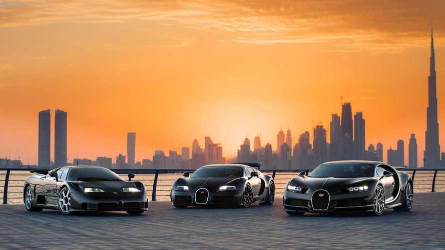 Bugatti bringt EB110, Veyron und Chiron für epische Bilderreihe zusammen