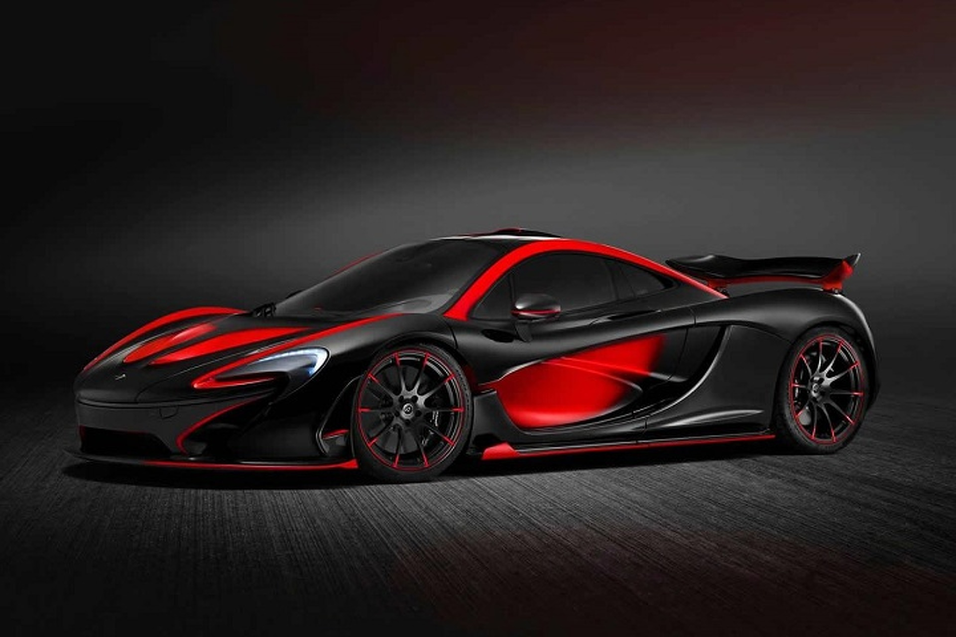 This Mclaren P1 Looks Wicked In Black And Red Blue Bird Wiring Schematic 1998