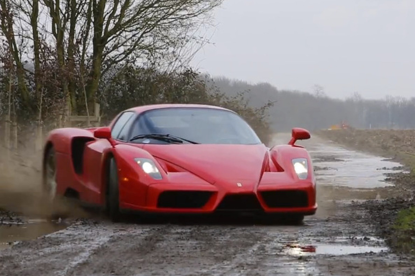 Ferrari Enzo Flogged on Dirt Road is as Badass as it Sounds