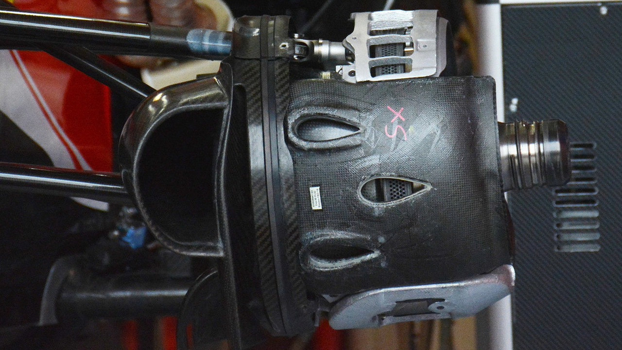 Ferrari SF16-H front brake duct detail