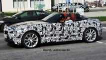BMW Z4 with top down