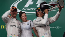 1st place Lewis Hamilton, Mercedes AMG F1 and 2nd place Nico Rosberg, Mercedes AMG F1