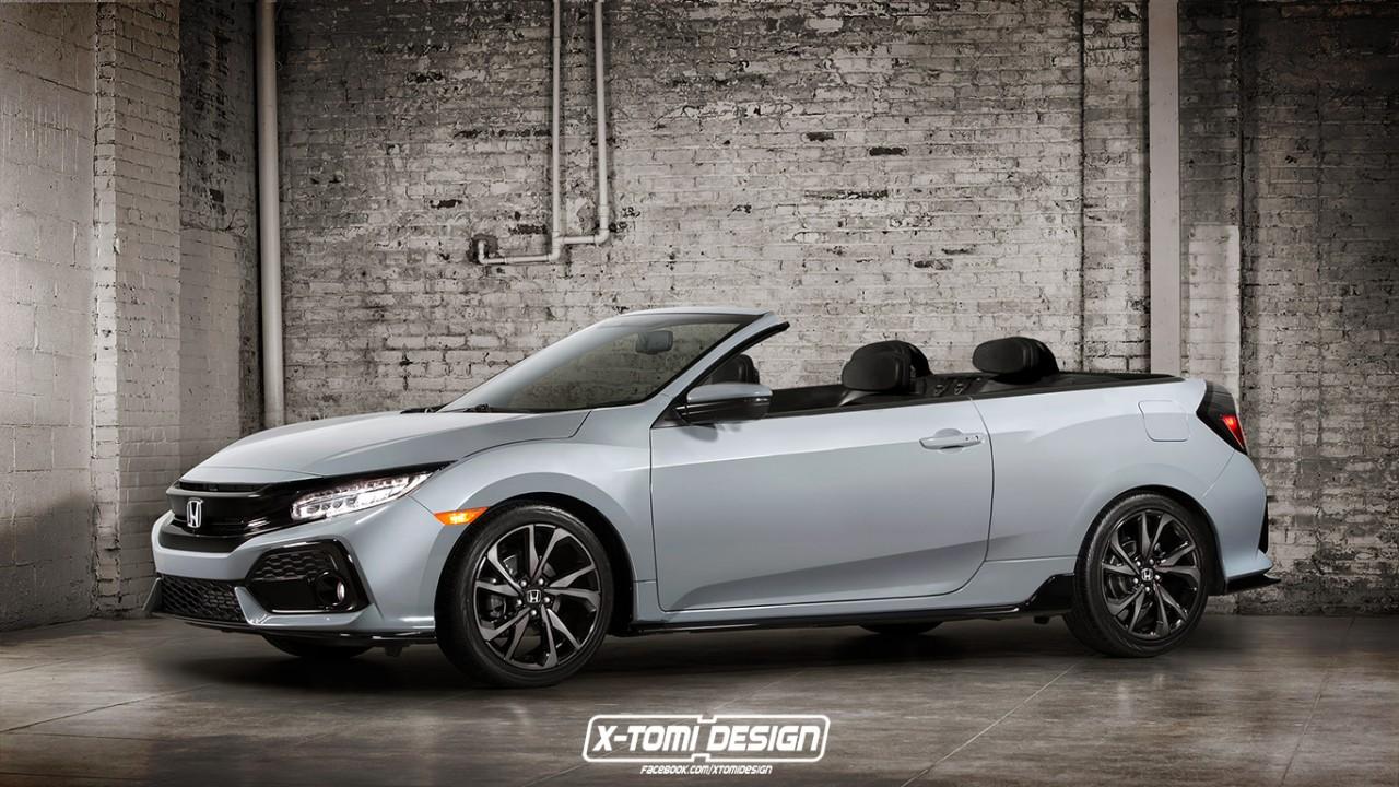 Honda Civic Cabriolet: designer imagina inusitada versão conversível