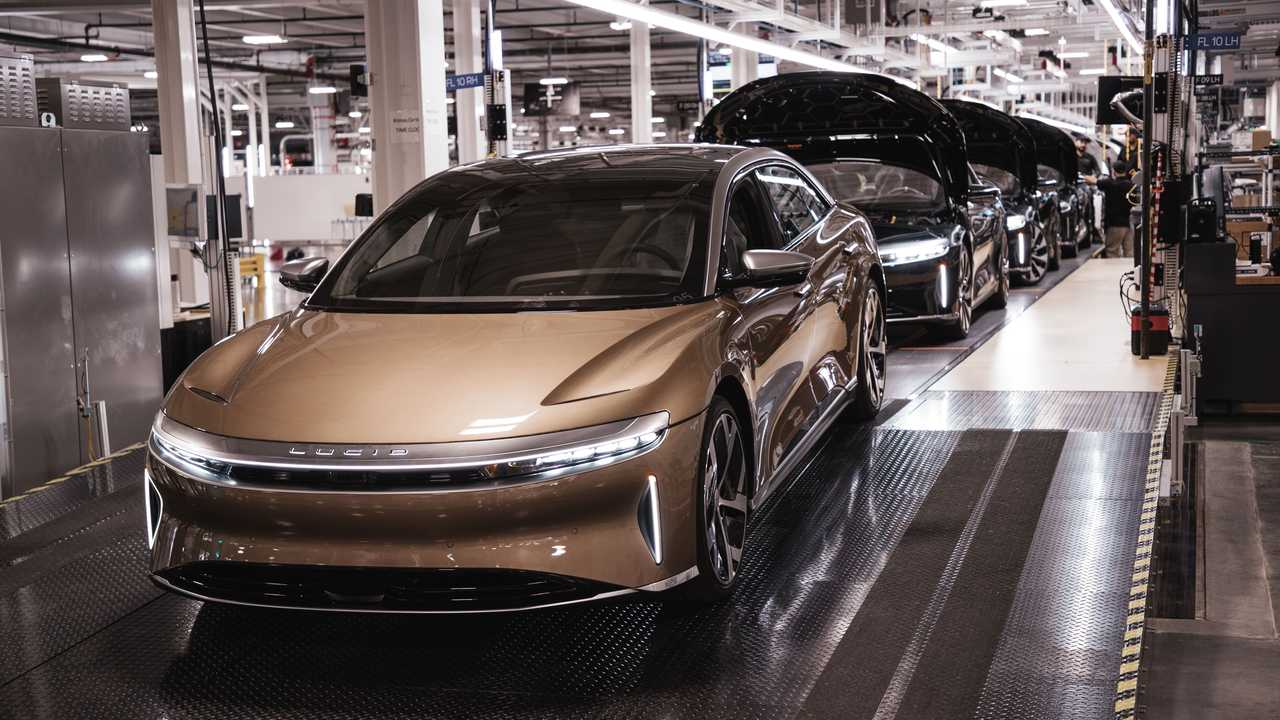 Lucid Air start of production.