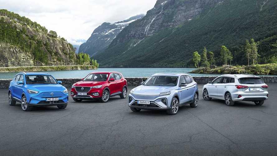Tutti i prezzi delle nuove elettriche MG, due SUV e una Wagon