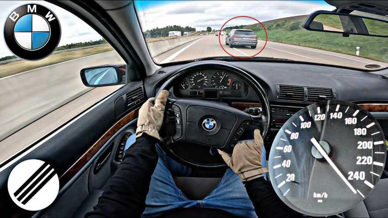 BMW 535i (E39) Alman Otobanı'nda.