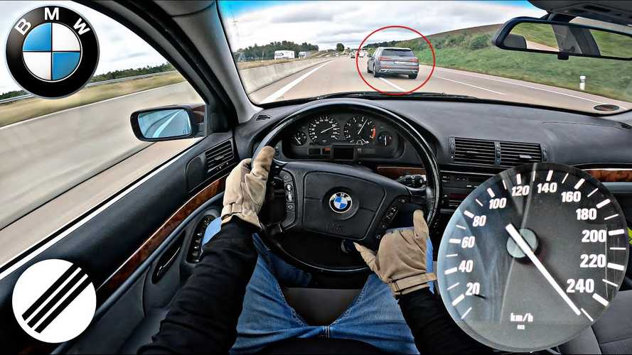 25-year-old BMW 5 Series puts V8 to work in Autobahn top speed run