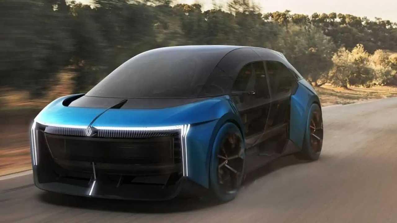 Recreación Renault Clio del futuro