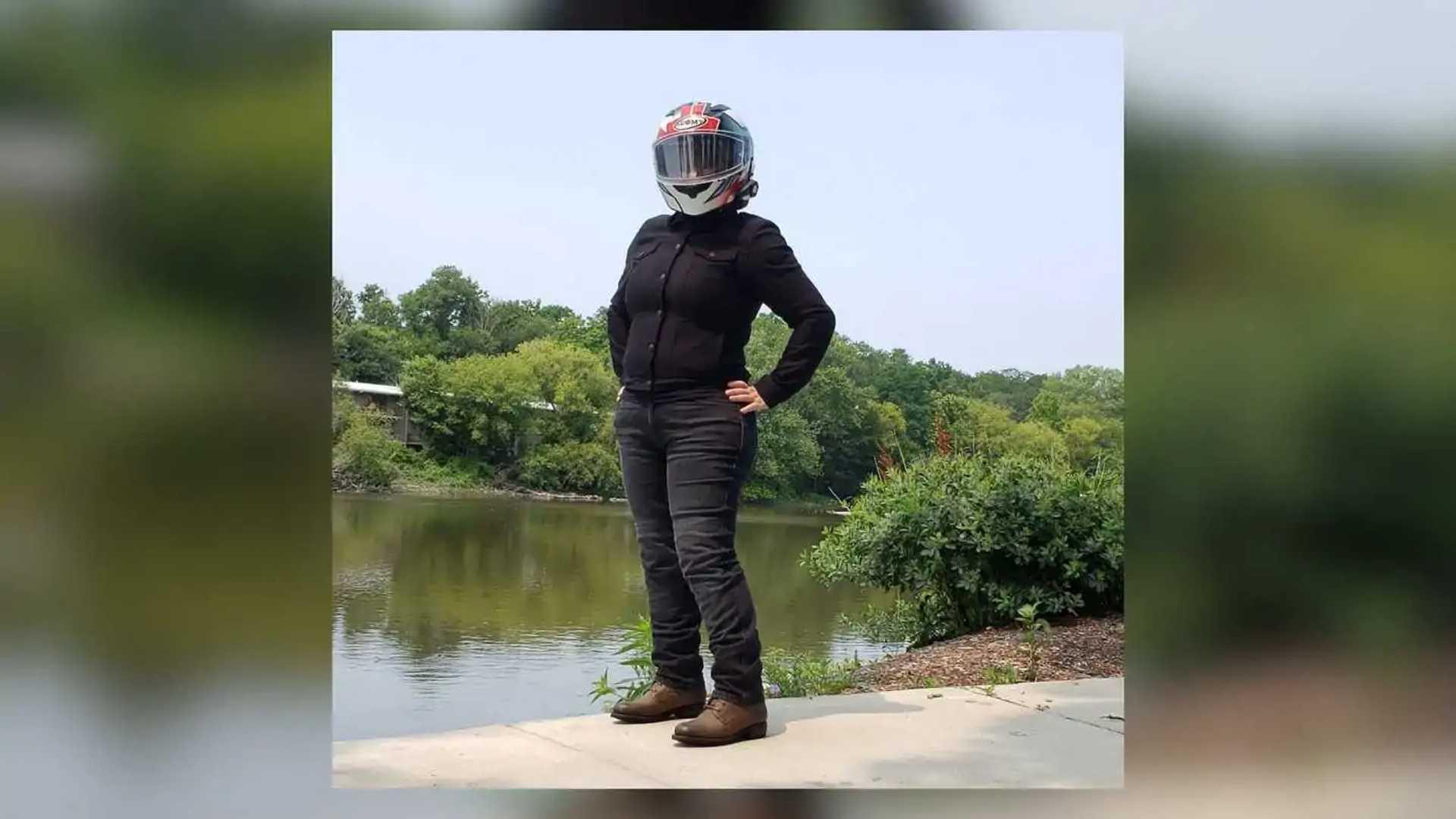 Rokkertech Mid Straight Black Jeans, Women's - Front View Alternate