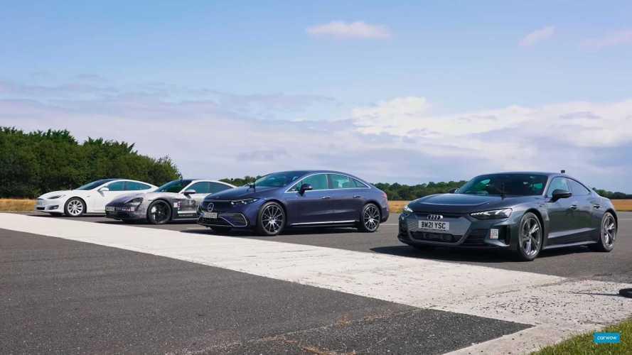 «Мерседес» EQS сошелся на прямой с Taycan, Model S и e-tron GT