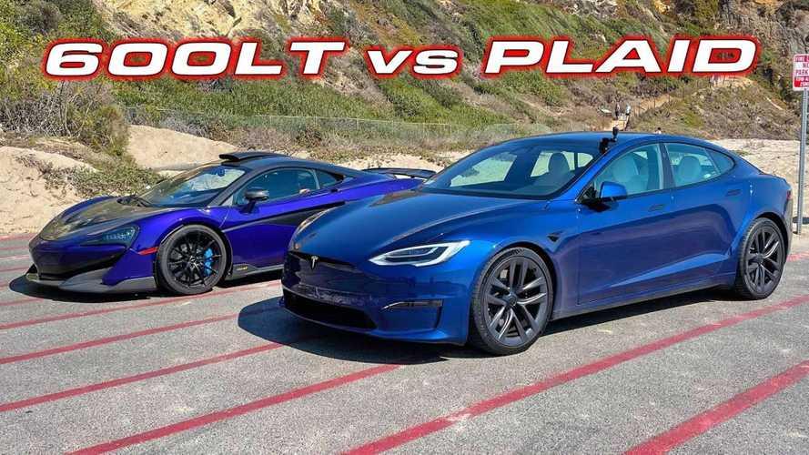 Tesla Model S Plaid Turo Rental Races 900HP McLaren 600LT