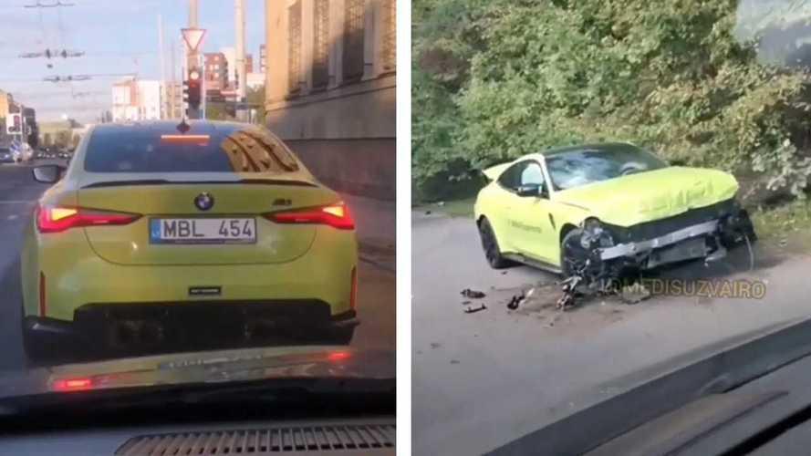 Két Volkswagen Passatot és egy E-osztályú Mercedest is nullázott egy új M4-es BMW