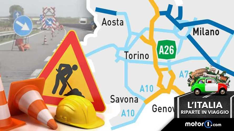 Cantieri autostradali in Liguria: la mappa per prevenire le code