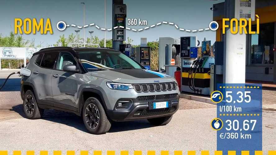 Jeep Compass 4xe 2021: prueba de consumo real