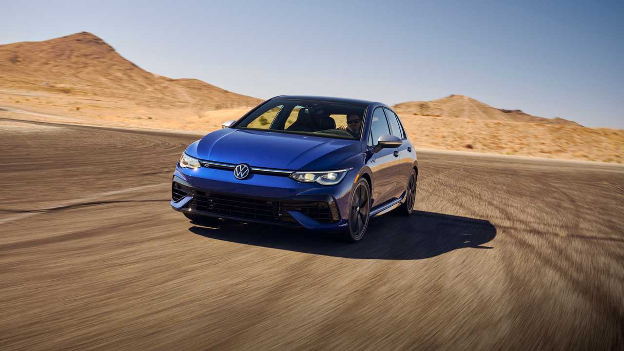 2022 Volkswagen Golf R US Version Front Angle On Track