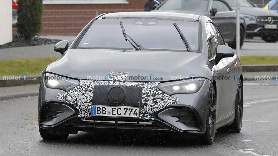 New 2023 Mercedes-AMG EQE Spy Shots