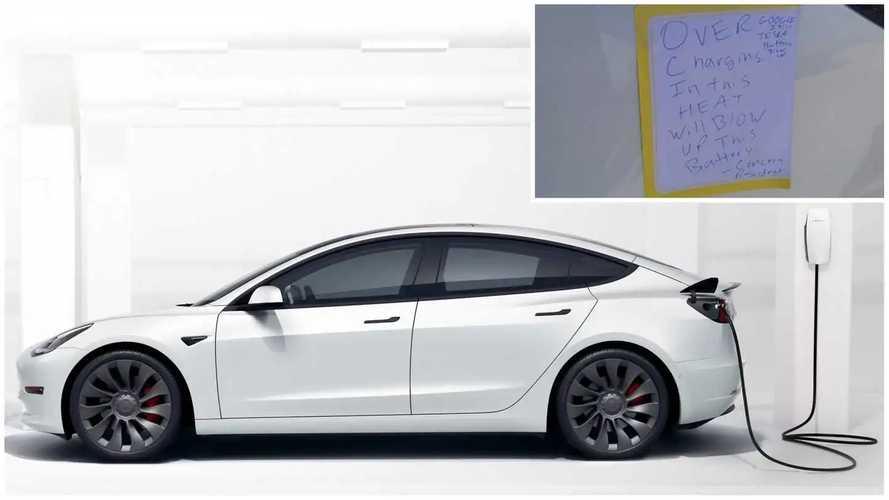 'Concerned Resident' Unplugs Tesla Model 3 Over Fire Fears