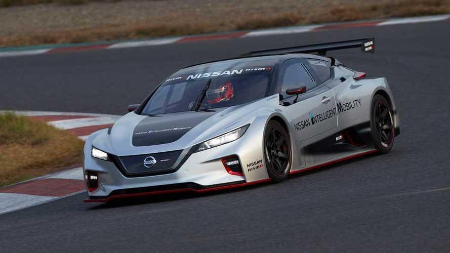 Nissan превратил электромобиль Leaf в гоночную машину